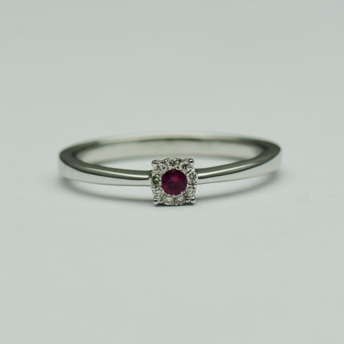 Inel de logodna cu rubin si diamante (cod 1509)