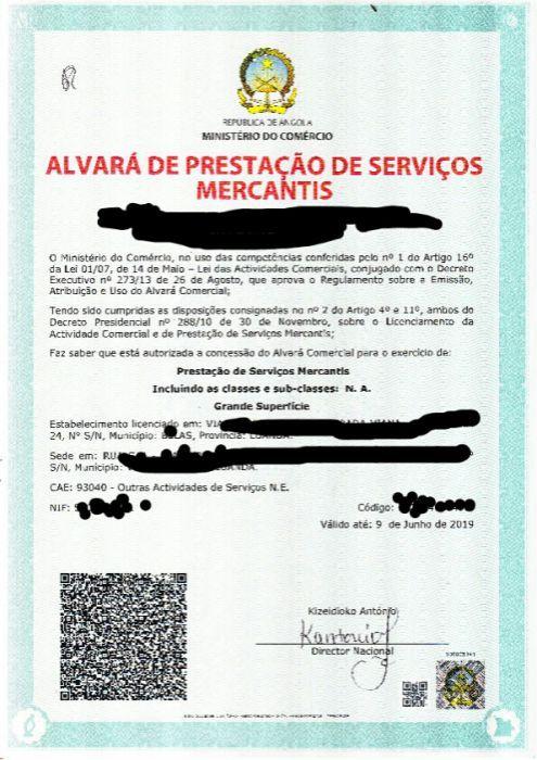 Trato vários tipos de Alvará e Licença de pescas
