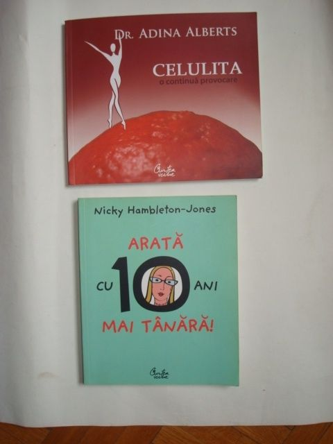 """Cărți """"Arată cu 10 ani mai tânără"""" și """"Celulita-o continuă provocare"""""""