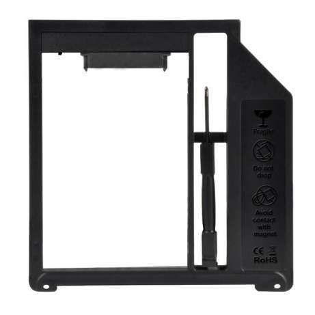 9.5mm 2nd HDD, caddy SSD, adaptor rack Apple MacbookPro plastic Salajn
