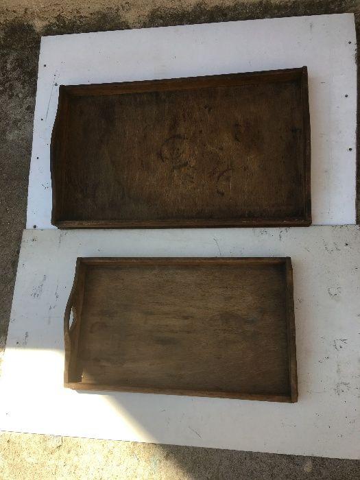 дървени подноси, куфари и дървении..