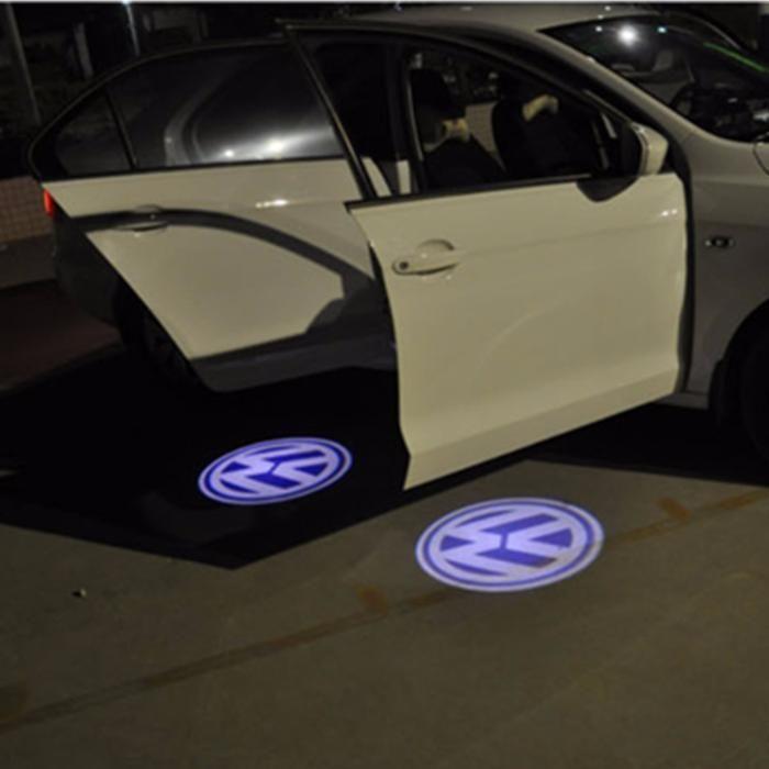 Lampi Led dedicate pentru portiere cu logo Volkswagen passat b5, 5.5