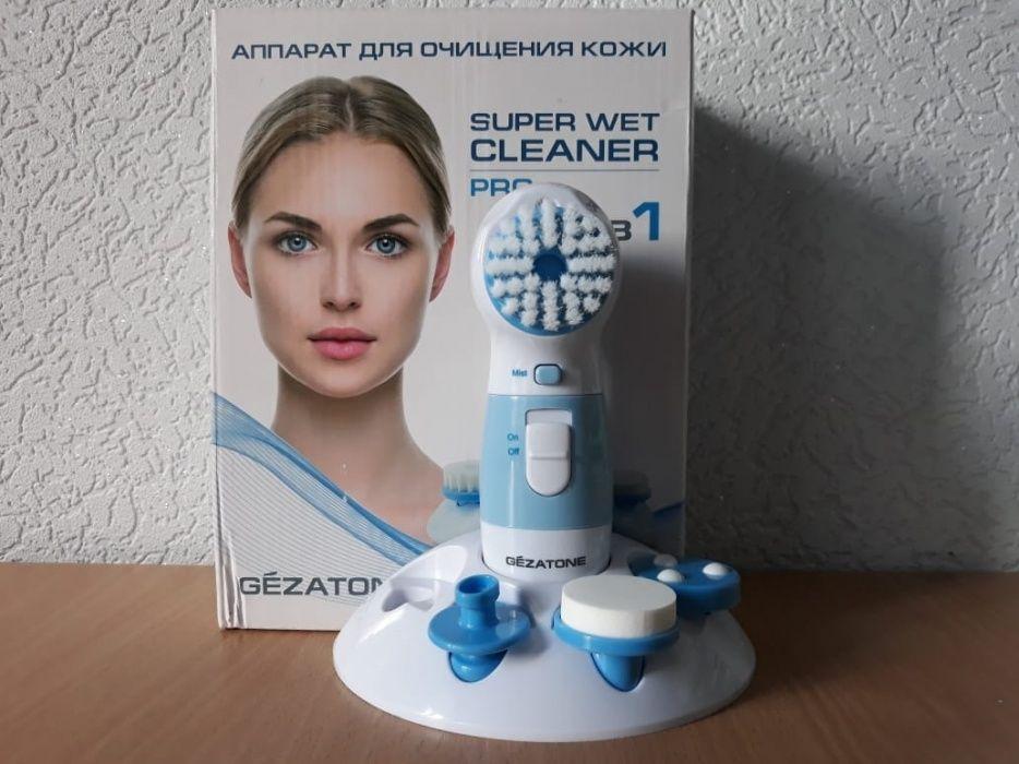 Аппарат для очищения кожи Supet wet cleaner pro Gezatone 4 в1, НОВЫЙ