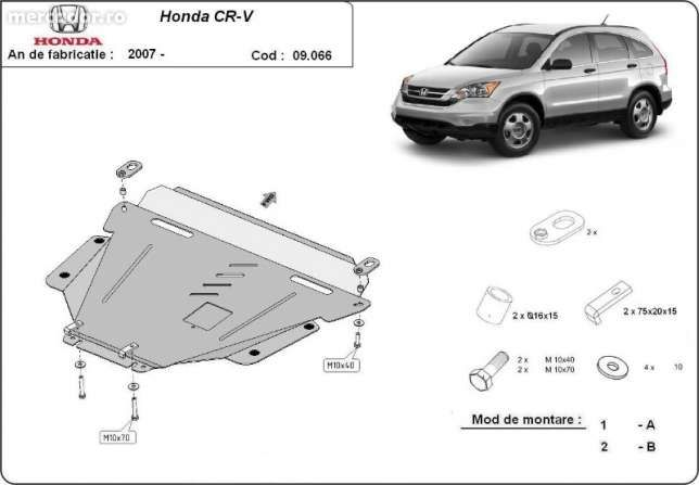 Scut metalic pentru motor Honda CR-V - otel 2mm