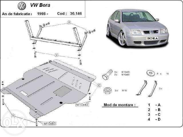 Scut metalic pentru motor VW Bora - otel 2mm
