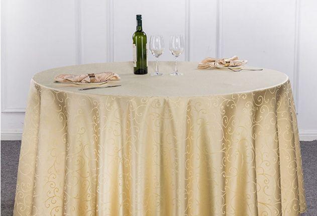 Fata (fete) de masa, rotunda, pentru sala de nunta, restaurant, cort