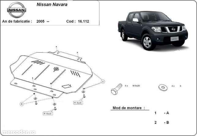 Scut metalic pentru motor Nissan Navara 2005-2016 - otel 3mm