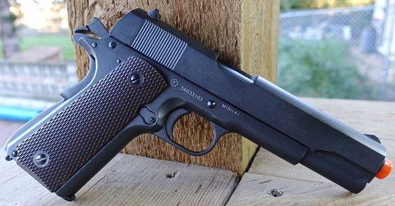Pistol COLT 1911 ( Airsoft GREU FULL METAL ) Putere modificata la 4J