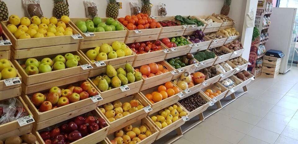 Стъпаловиден стелаж за плод и зеленчук