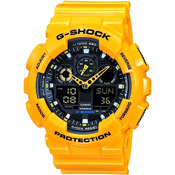 Ceas SPORT Casio G Shock GA100-A9, Yellow -Glossy ,Original 100%