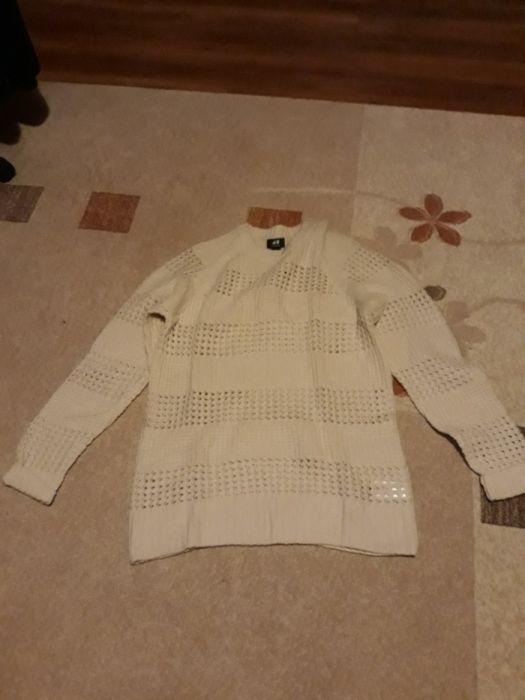 Pulover tricotat alb hm