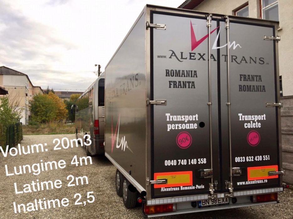 Transport colete masini tamplarie pvc paleti marfa Paris