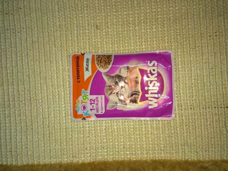Влажные корма вискас пауч для ваших котов и кошек