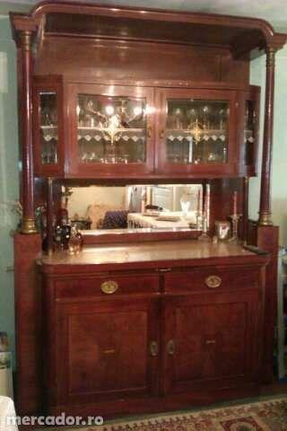 dulap sufragerie din lemn de cires