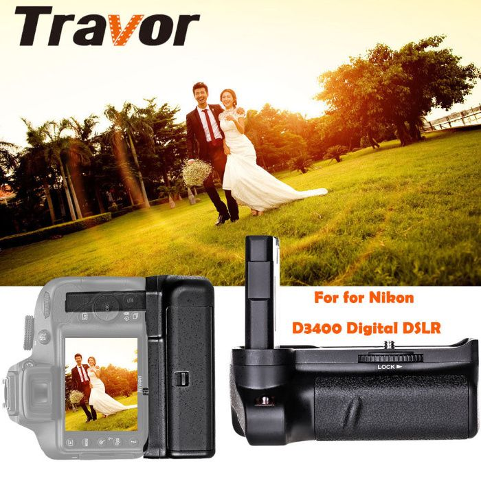 Grip pt Nikon D3400 en-EL14 EN-EL14a, nou la cutie