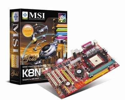 Placa-mãe + Procesador AMD Sempron 64 3000+ 1.8 GHz, MSI K8N Neo3-F
