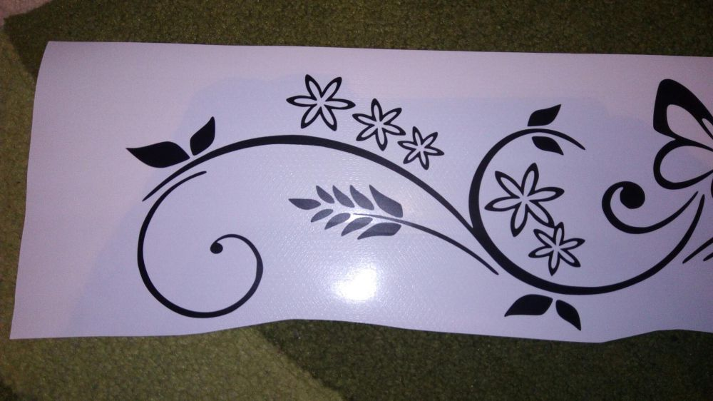 Autocolant Wall sticker - butterfly and flowers