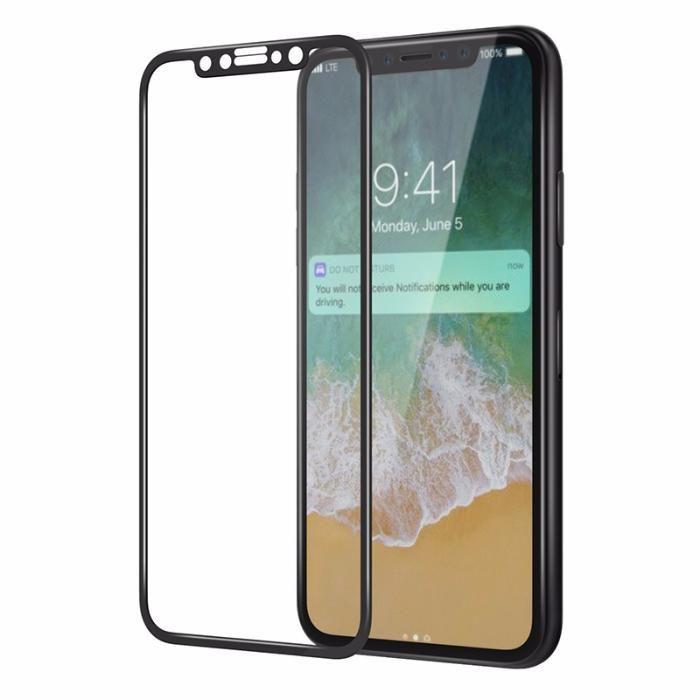6D стъклен протектор с 9H защита за iPhone X, XS, XR, XS MAX,