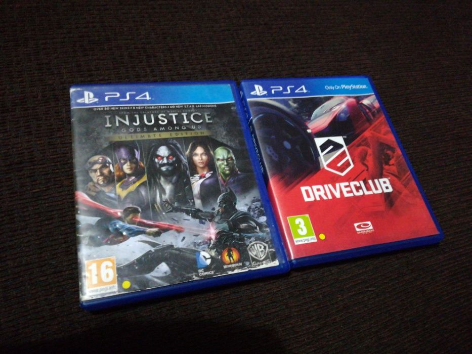 Driveclub e injustice(god among us)