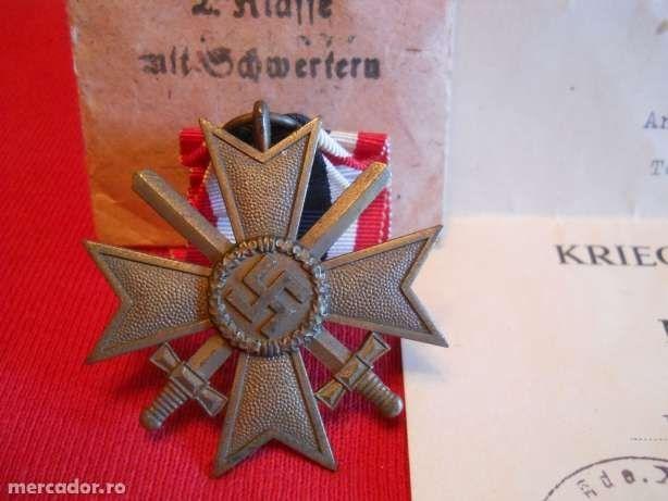Crucea de Merit cu sabii, cls II, nr 110.