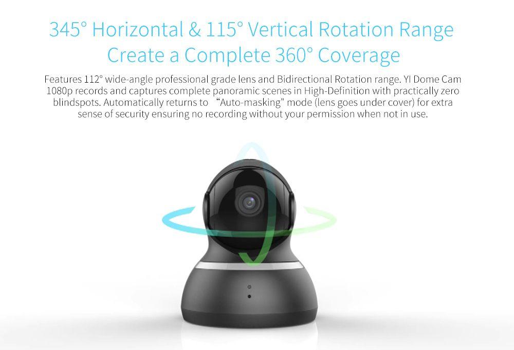 YI 1080 P Câmera Dome Pan/Tilt/Zoom de Segurança Sem Fio IP