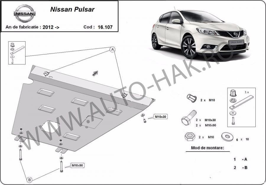 SScut motor metalic Nissan Pulsar 2012-2017- otel 2mm