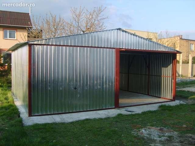 OFERTĂ:Garaj metalic pentru două maşini, de 6m x 5m,cu porţi culisante