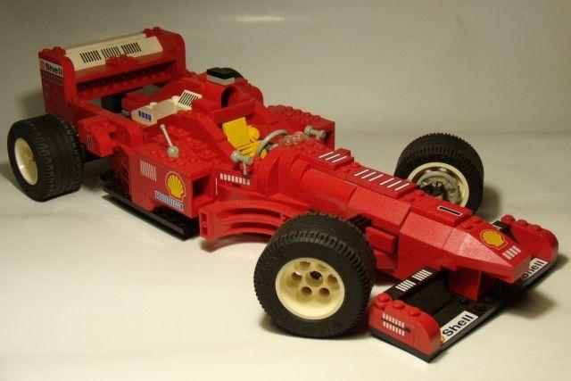 Lego System Model Team 2556 Shell Ferrari Formula 1 din 1998
