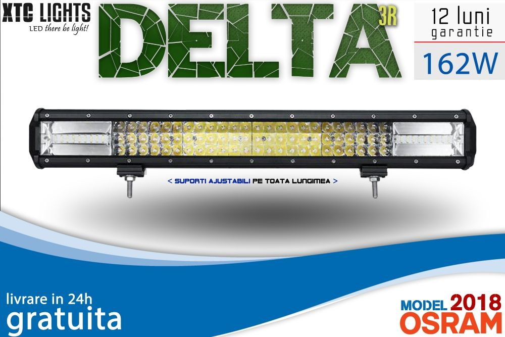 "LIVRARE GRATUITA LED Bar ""XTC Lights DELTA Series"" 162W 55cm 17010LM"
