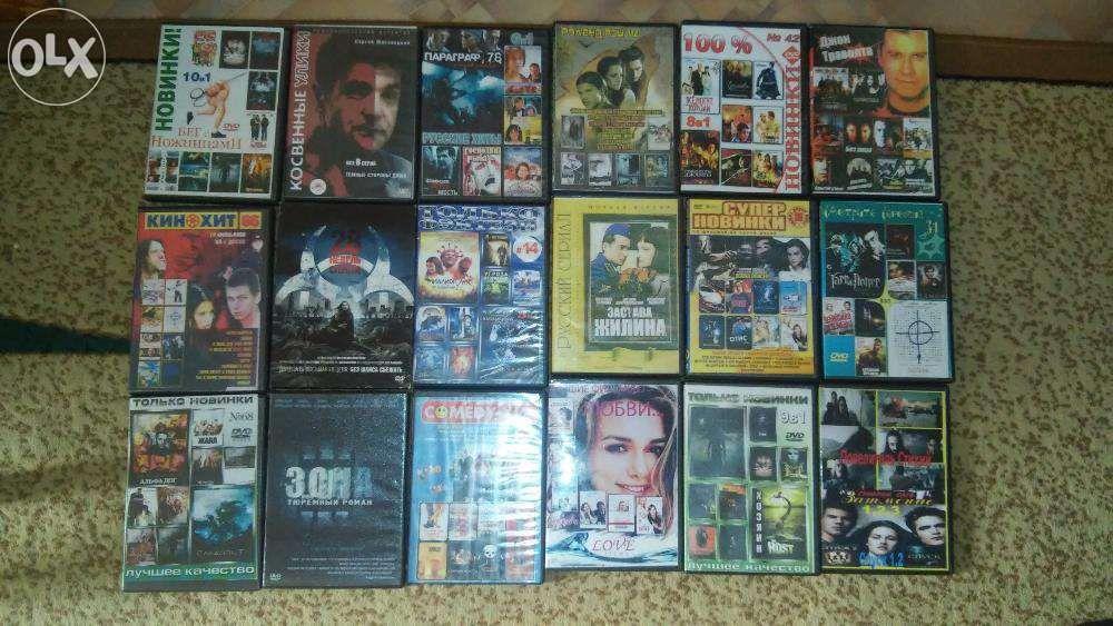 продам DVD диски б.у 100 тн один фильмы
