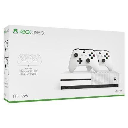 Xbox one s 1TB + 2 joystick novo na caixa selado com todos acessórios