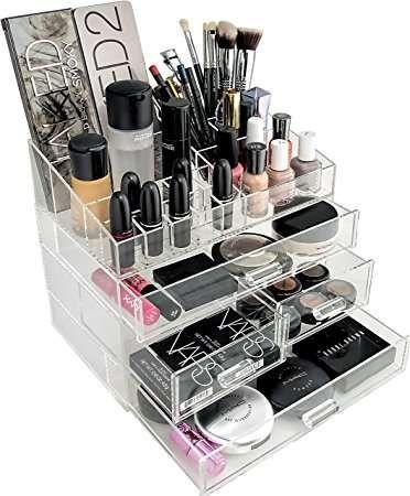 Caseta Cu Sertare Cutie Organizator Cosmetice Sau Bijuterii