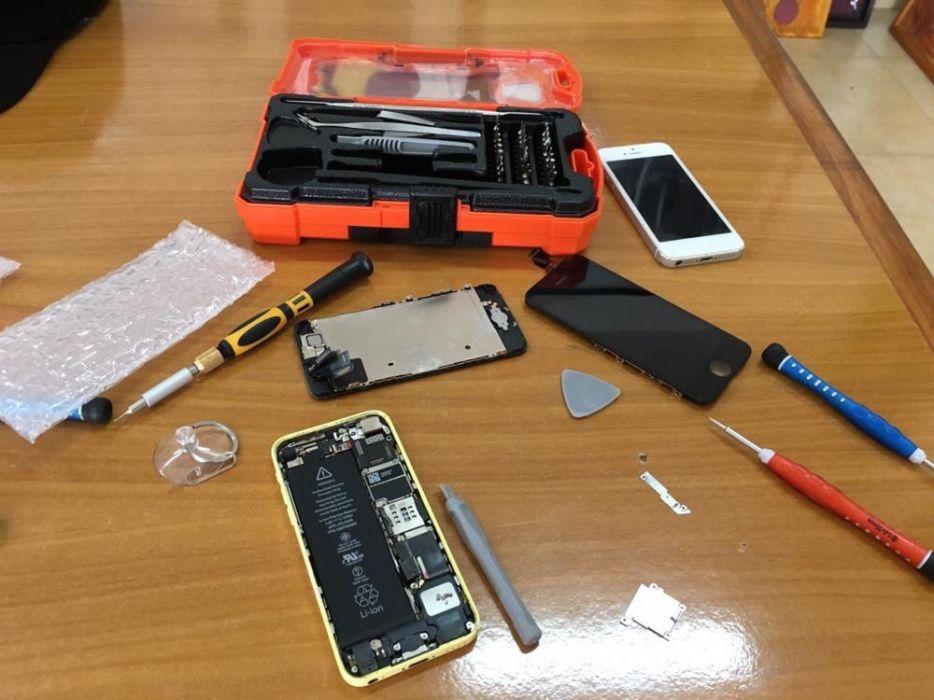Mudança de visores e baterias de iPhone 6plus ao domicílio