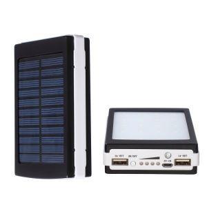Vendo carregador portatil com placa de energia solar com 20000 mAh