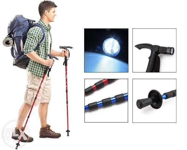 Bat trekking hiking catarare mers munte drumetii + busola & lanterna