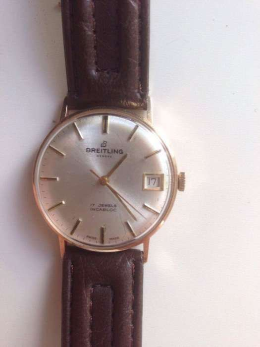 Ceas Brietling 14k aur vechi anii 50' de colectie ,manual, cu data