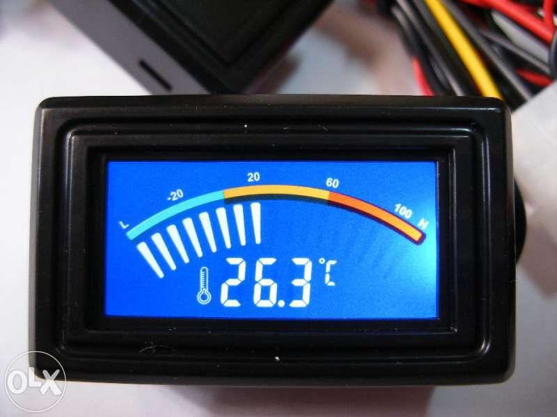 Панелен цифров LCD термометър със скала автомобил хладилник компютър