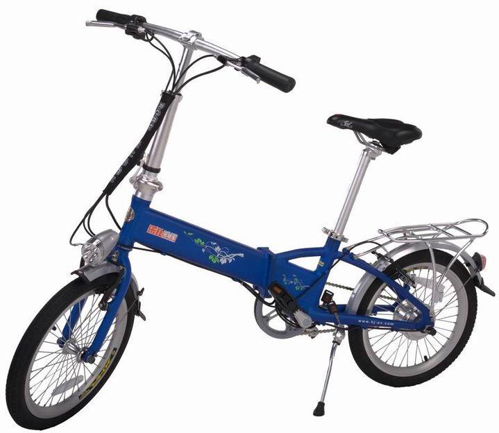 Сгъваем елекрически велосипед