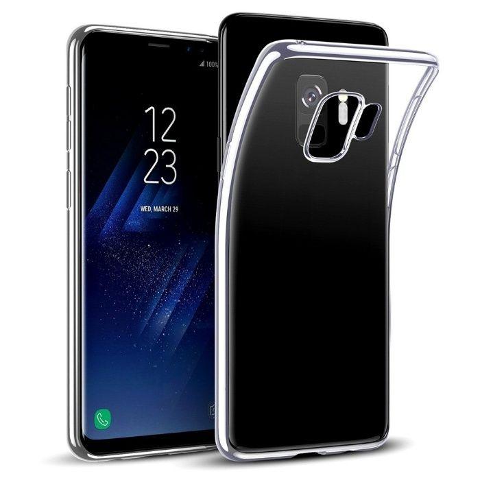Samsung S9 S9 Plus Pachet Husa Silicon Clara si Folie Curbata Silicon