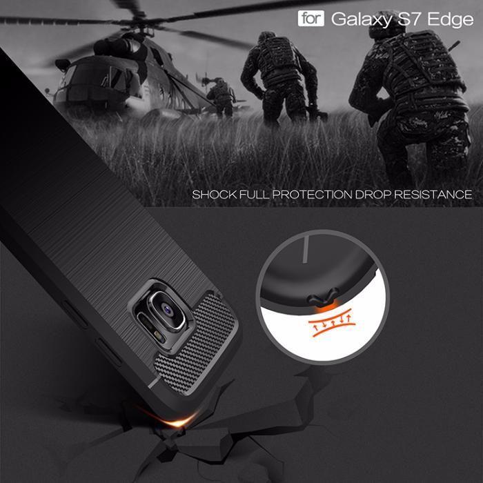RUGGED ARMOR силиконов кейс за Samsung Galaxy S7, S7 Edge, S8, S6 Edge