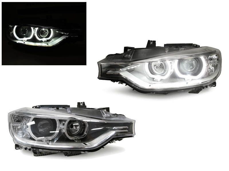 Faruri BMW F30 LED Angel Eyes DEPO