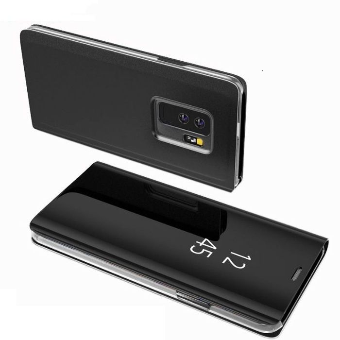 Samsung S9 S9 Plus - Flip Case Clear View Oglinda Negru Black