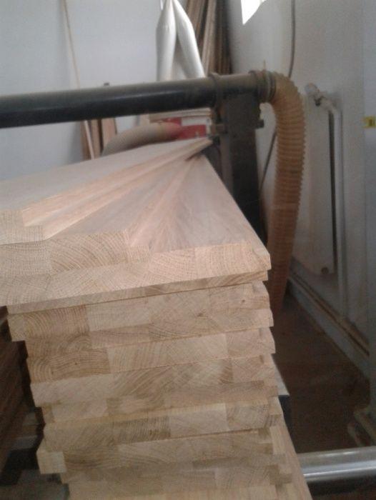 Trepte din lemn masiv incleiat de STEJAR