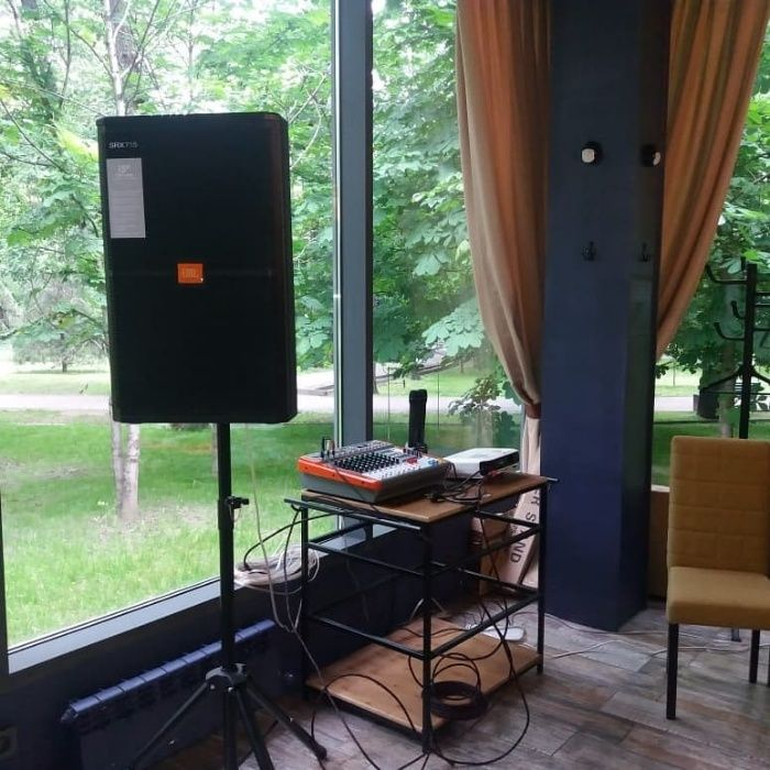 Аренда звука (прокат колонок) + проектор и экран (микшер, микрофон)