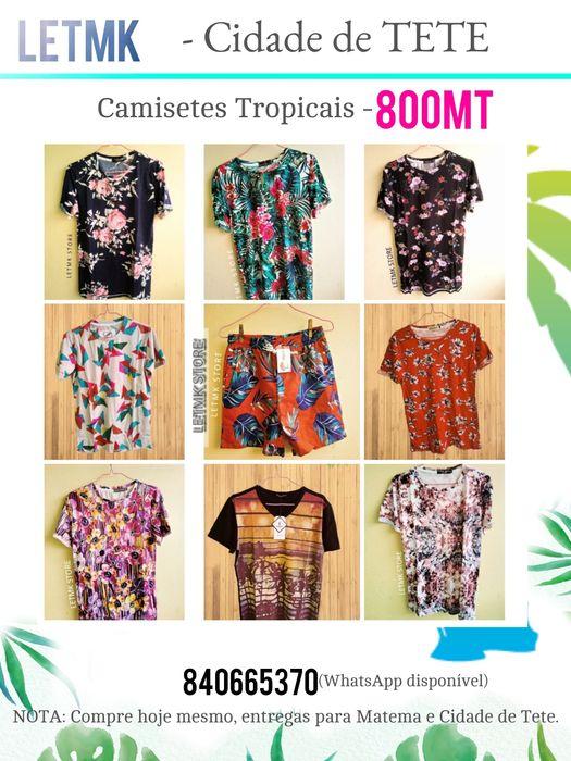 Camisetes Tropicais em Tete by LETMK