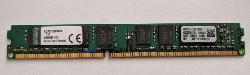 Memorie PC 4GB Kingston DDR3 1333MHz CL9 1.5V low profile ram 4 GB