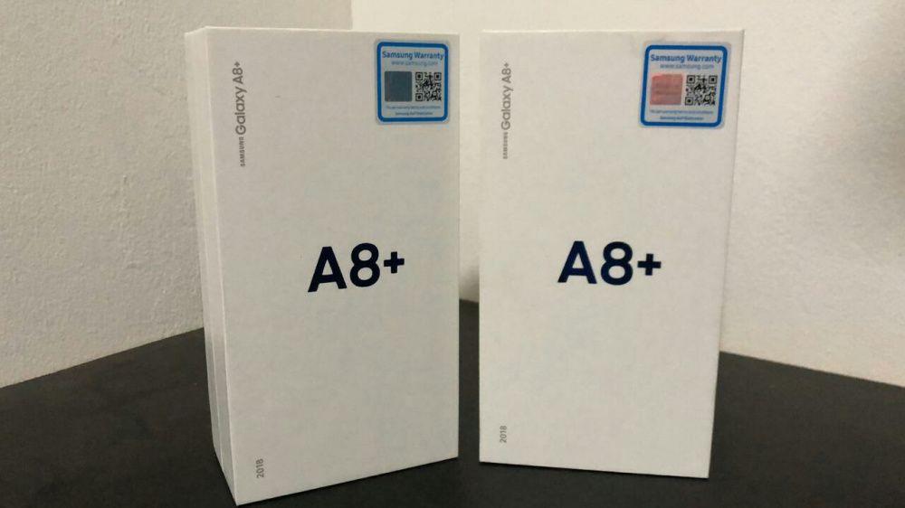 Samsung A8 plus 2018 na caixa