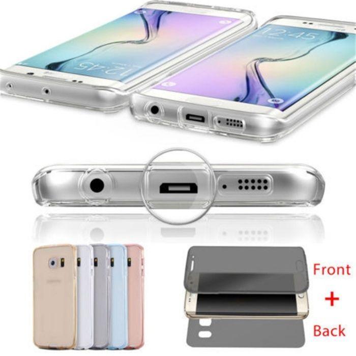Samsung S6/S6 Edge/S6 Edge+ Husa 360 Fata si Spate Silicon Transparent