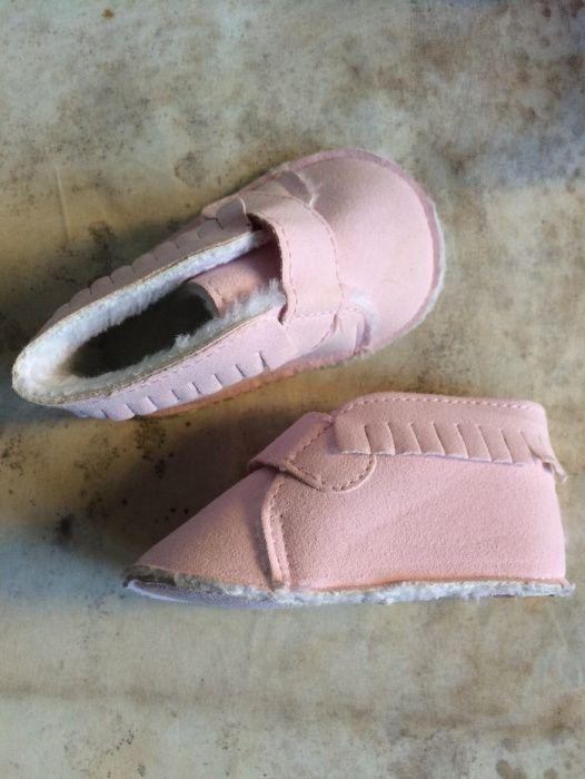 Sapato rosa para bebé