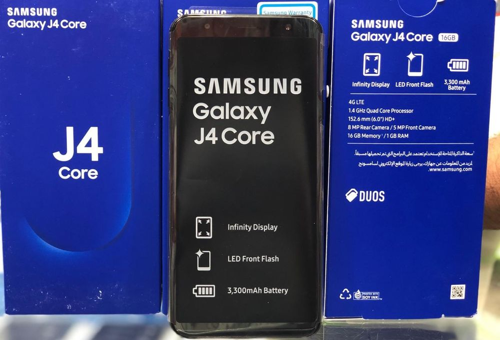 Samsung J4 Core/novos na caixa.